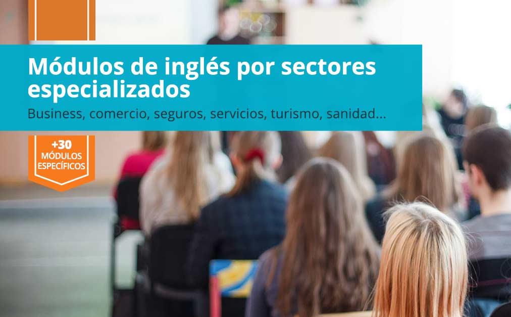 Cursos inglés profesional sectores en cambrils